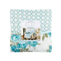Reversible Blue Floral Print Quilted Chair Furniture Protector
