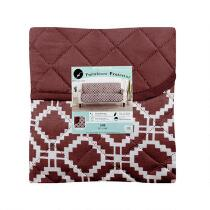 Reversible Quilted Geometric Sofa Furniture Protector