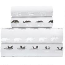 Silver Foil Elephant Sheet Set