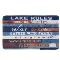 """Lake Rules"" Cushioned Floor Mat"