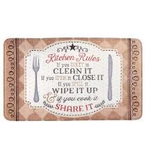"""""""18x30"""" """"Kitchen Rules"""" Cushioned Floor Mat"""