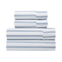 Blue Stripes Printed Microfiber Sheet Set