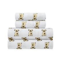 Brown Spotted Dog Sheet Set