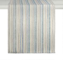 The Grainhouse™ Blue/Ivory Striped Cotton Runner