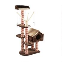 Cat Scratching Tower with Cubby House