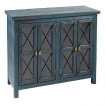 Blue 4-Door Storage Cabinet