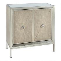 Silver Lux 2-Door Mirrored Cabinet