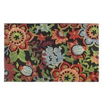 Floral Oversized Stain-Resistant Door Mat